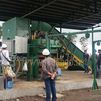 Straw press machine